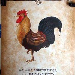 insegna dell'Agriturismo Corte del Gallo - Val Trebbia - Piacentino